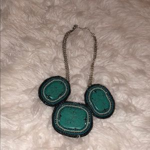 Jewelry - Turquoise and silver necklace.